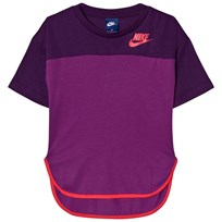 NIKE Girl Purple Nike Prep GFX T-Shirt NIGHT PURPLE/BOLD BERRY/LT FUSION RED