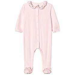 Petit Bateau Pink Floral Footed Baby Body