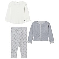 Petit Bateau Sweater+Jacket+Leggings Grey/Blue Sort