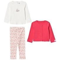 Petit Bateau Sweater+Jacket+Leggings Creme White