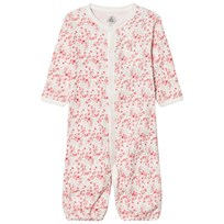 Petit Bateau Floral 2-in-1 One-Piece White