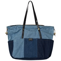 Chloé Blue Denim Patchwork Changing Bag Z10
