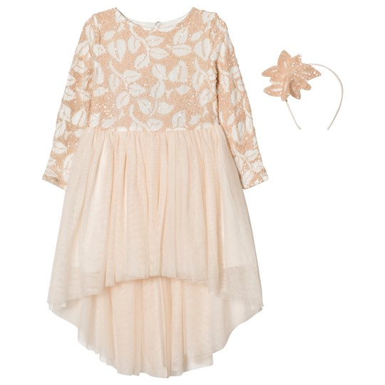 Billieblush Pale Pink Sequin Tulle Dress 450