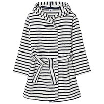 Petit Bateau Marine Striped Bathrobe White