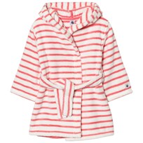 Petit Bateau Pink Striped Bathrobe White
