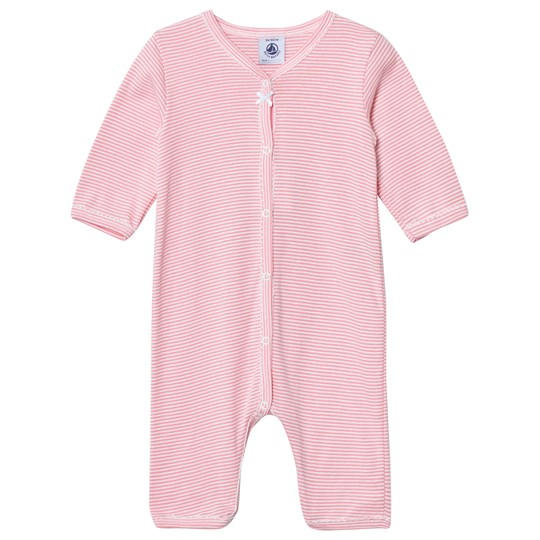 Petit Bateau Pink Striped One-Piece Pink