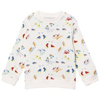 Stella McCartney Kids Scribbles and Skate Print Tröja Off White 9795