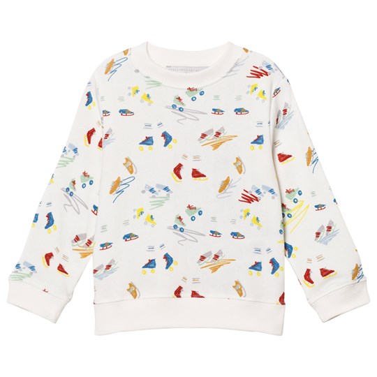 Stella McCartney Kids Off White Scribbles and Skate Print Sweatshirt 9795