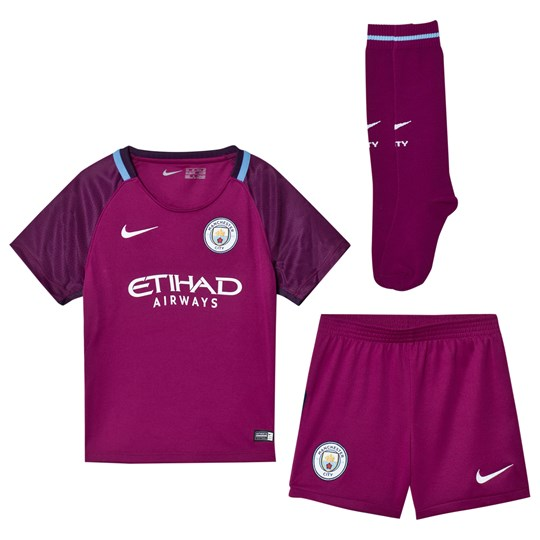 Manchester City FC Manchester City FC Kids Away Kit TRUE BERRY/WHITE