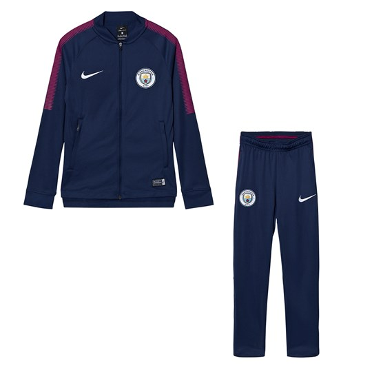 Manchester City FC Manchester City FC Junior Dry Squad Tracksuit MIDNIGHT NAVY/MIDNIGHT NAVY/WHITE
