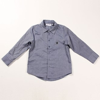 Robot Shirt Blue Melange , Mini Rodini