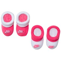 NIKE Pack of 2 Pink and White Futura Bootie Gift Set A96 HYPER PINK