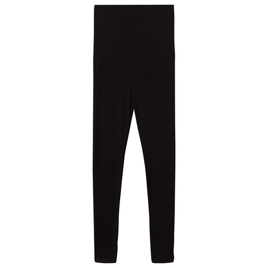 Mom2Mom Maternity Leggings Black Black
