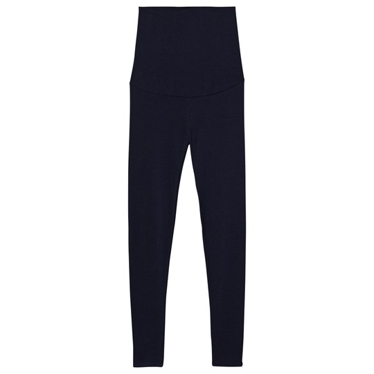 Mom2Mom Maternity Leggings Navy Marinblå