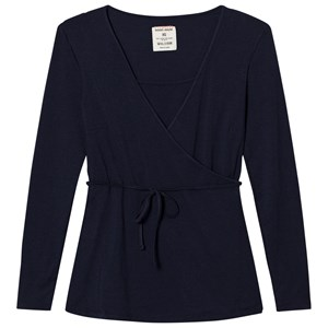 Image of Mom2Mom Wrap Top Navy XS (762455)