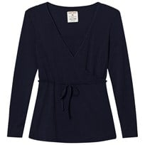 Mom2Mom Wrap Top Navy Navy