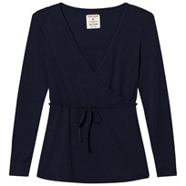 Mom2Mom Wrap Top Navy Marinblå