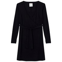 Mom2Mom Wrap Dress Black Black