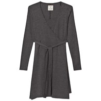 Mom2Mom Wrap Dress Grey Melange Black