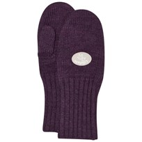 Lillelam Basic Wool Mittens Purple Plomme