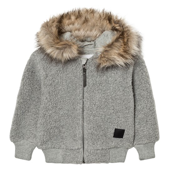 Molo Ursula Fleece Jacket Grey Melange Grey Melange