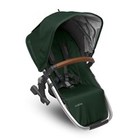 UPPAbaby VISTA RumbleSeat Austin (Hunter) - Silver Frame With Leather Hopea