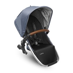 UPPAbaby VISTA RumbleSeat Henry (Blue Marl) - Silver Frame With Leather