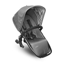 UPPAbaby VISTA RumbleSeat Pascal (Grey) - Carbon Frame Silver
