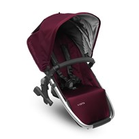 UPPAbaby VISTA RumbleSeat Dennison (Bordeaux) - Silver Frame Silver