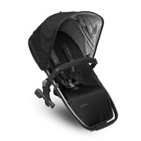 UPPAbaby VISTA RumbleSeat Jake (Black) - Carbon Frame Silver