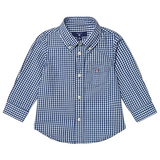 GANT Navy Classic Gingham Oxford Shirt 423