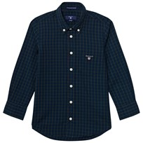 Gant Navy and Green Check Shirt 423