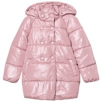 Mayoral Pale Pink Shimmer Hooded Padded Coat 29