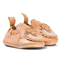 Easy Peasy Pink Leather Sheep BluBlu Shoes with Anti Slip Sole 299