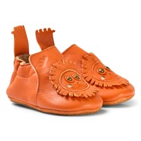 Easy Peasy Orange Leather Lion BluBlu Shoes with Anti Slip Shoes 063