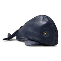 Easy Peasy Navy Whale Leather Purse 318