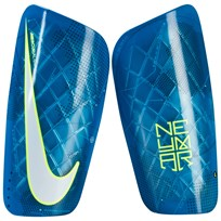 NIKE Kids White Protegga Flex Football Shin Guards BLUE ORBIT/VOLT/WHITE