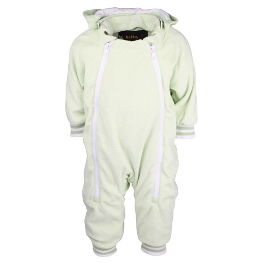 Mini Rodini Terry Baby Overall Lt Green Green