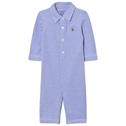 Ralph Lauren Knit Oxford One-piece Blue