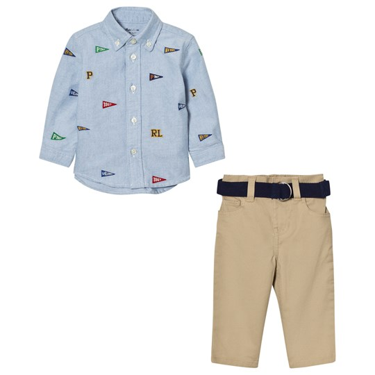 Ralph Lauren Blue Flag Shirt and Chinos Set 001