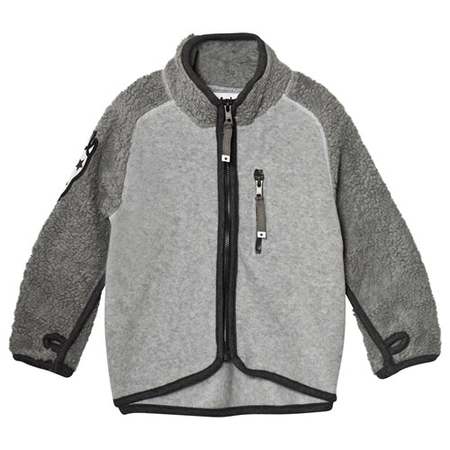 Rock Fleece Jacka Grå Molo Babyshop