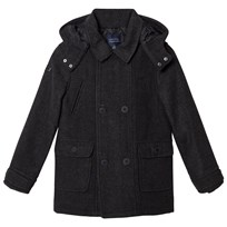 Mayoral Grey Flannel Hooded Coat 89