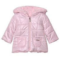 Mayoral Pink Reversible Faux Fur Hooded Coat 59