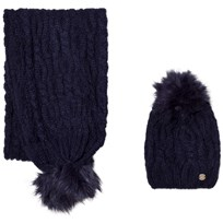 Mayoral Navy Chunky Knit Hat and Scarf Set 60