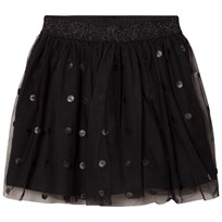 Mayoral Black Tulle Skirt with Pleather Circles 81