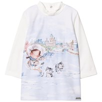 Mayoral Off-white Girl Print Dress 31