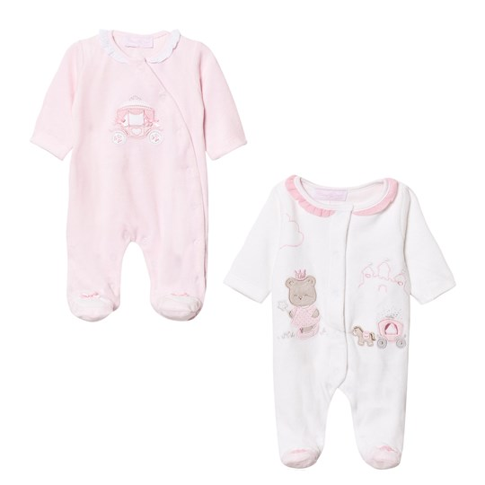 Mayoral Pink and White Fairytale Footed Baby Bodies (2 Pack) 69