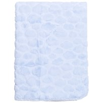 Mayoral Blue Textured Plush Baby Blanket 17