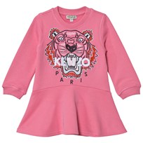 Kenzo Pink Embroidered Tiger Sweat Dress 320