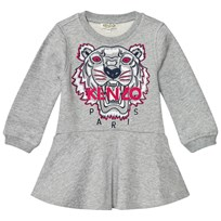 Kenzo Grey Embroidered Tiger Sweat Dress 20